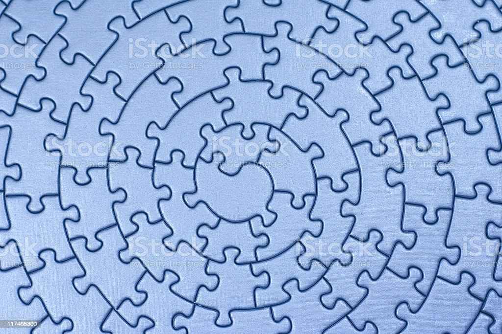 complete blue jigsaw royalty-free stock photo