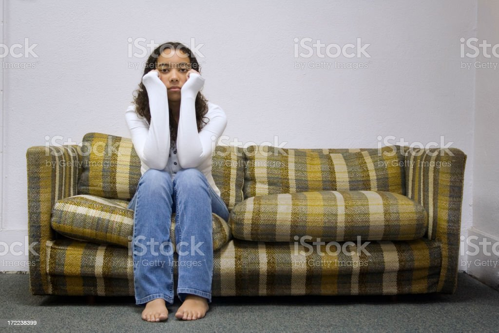 Complete Boredom royalty-free stock photo