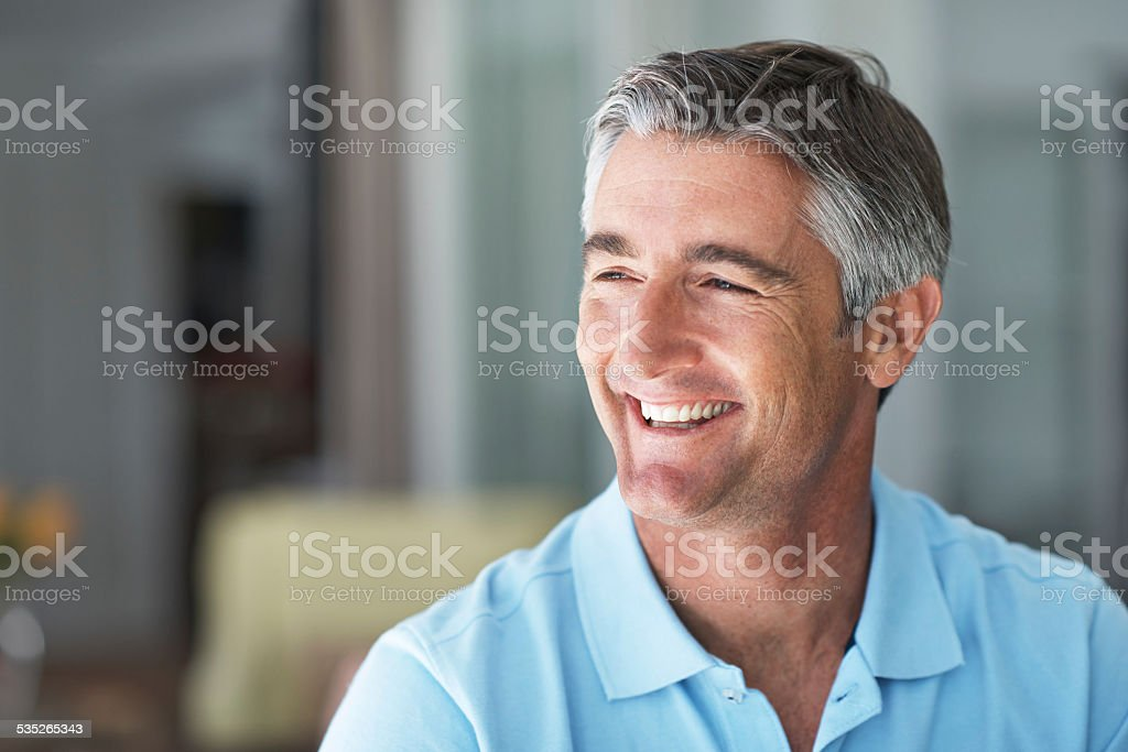 Complete contentment stock photo