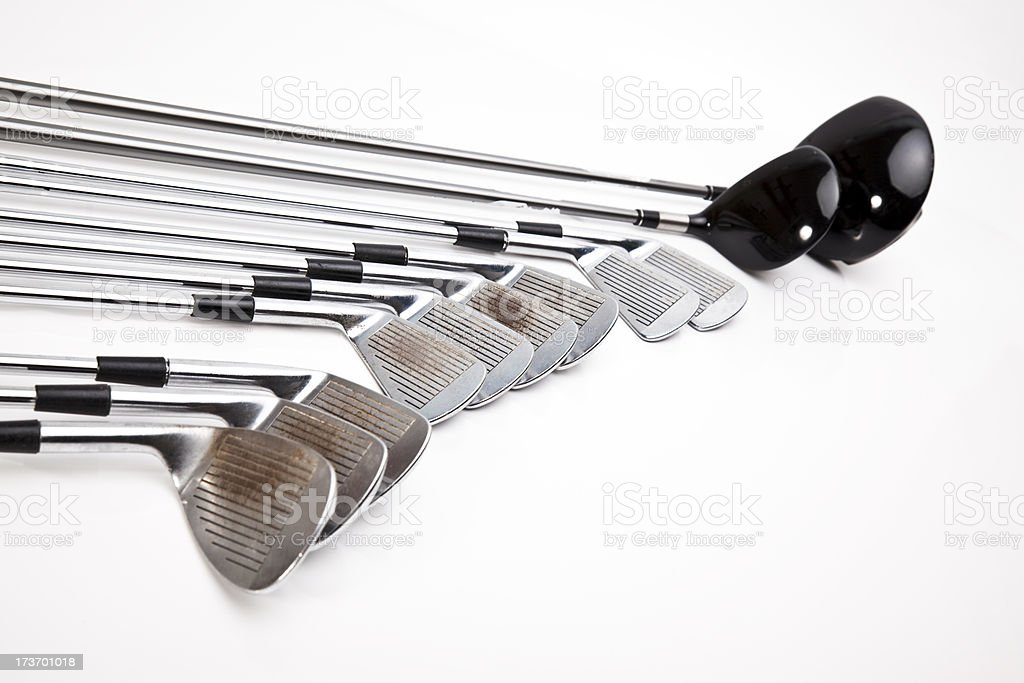 complete golf club set royalty-free stock photo