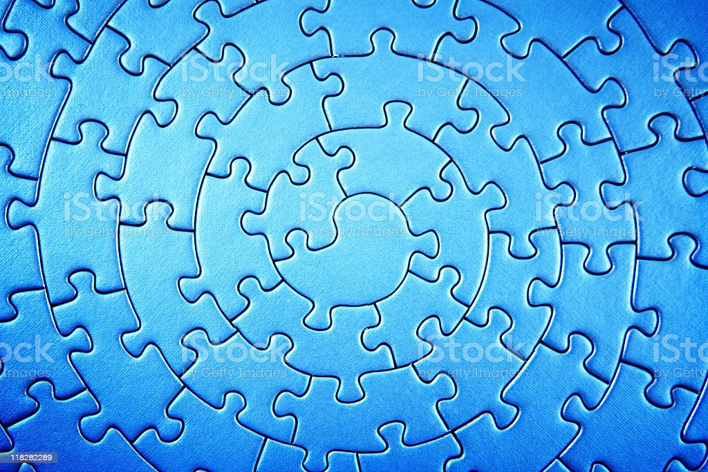 complete jigsaw wide angle royalty-free stock photo