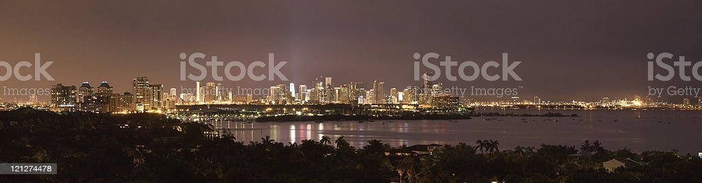 Complete Miami Panorama stock photo