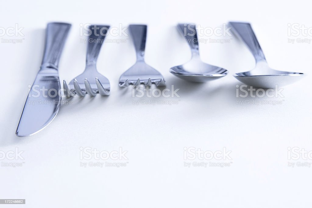 Complete place setting stock photo