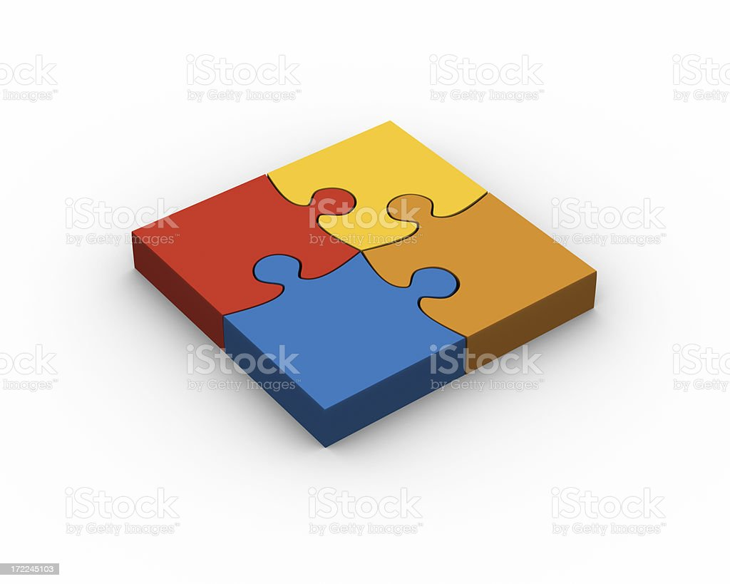 Complete puzzle royalty-free stock photo