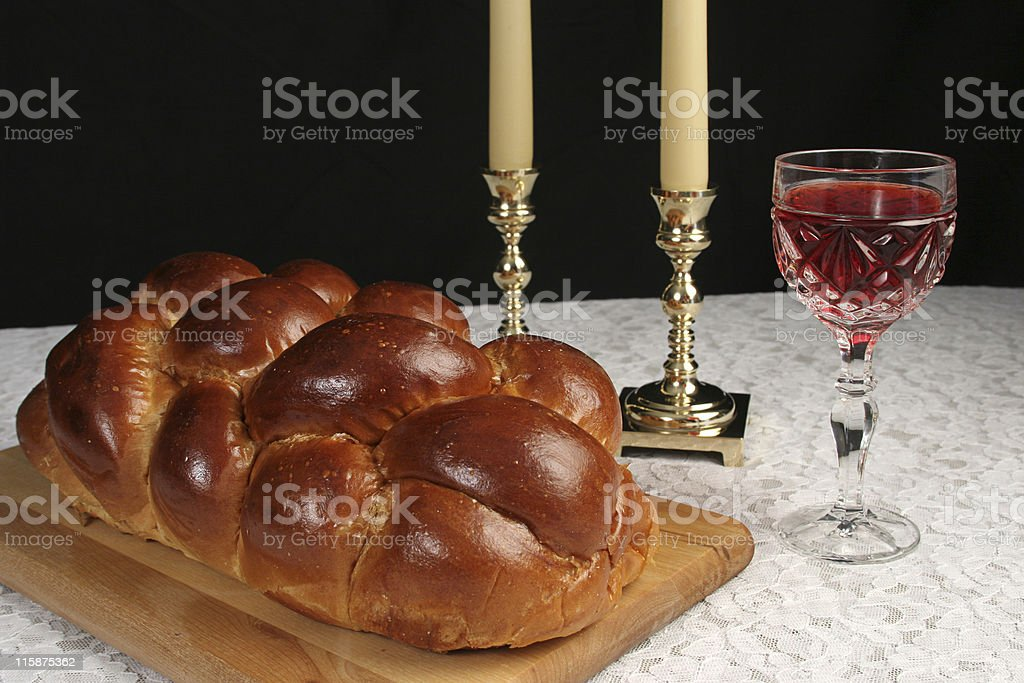 Complete Shabbat Table royalty-free stock photo