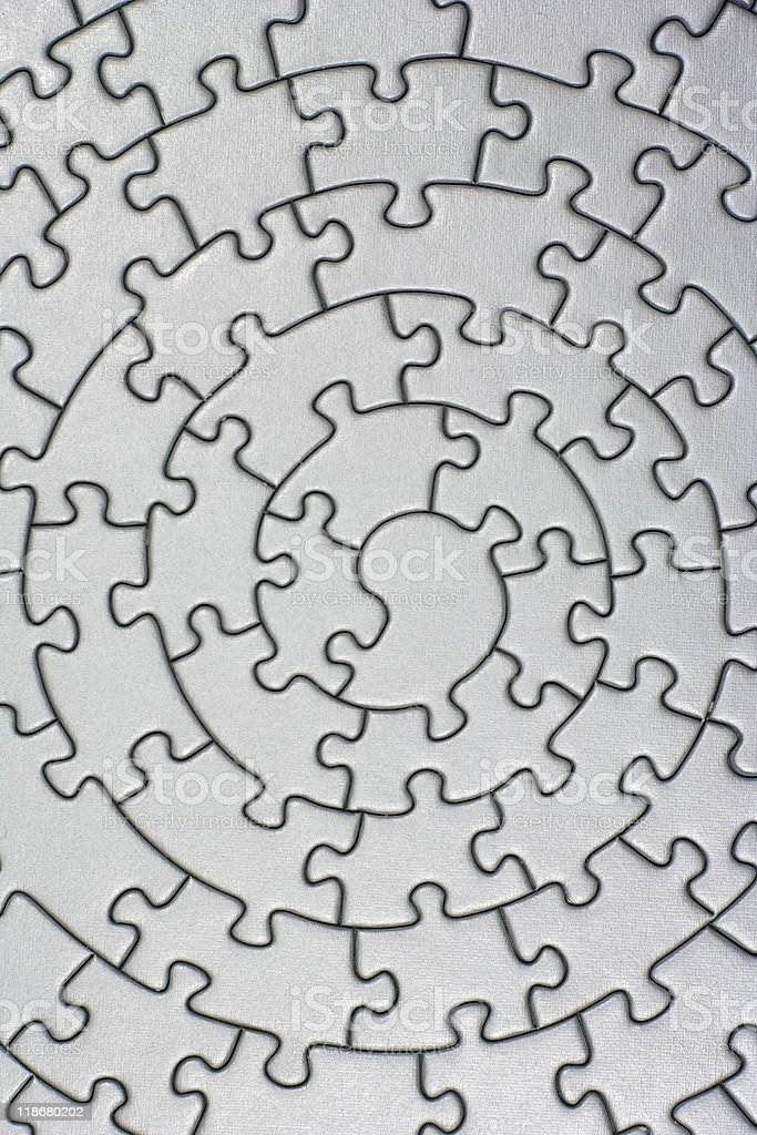 complete silver jigsaw royalty-free stock photo