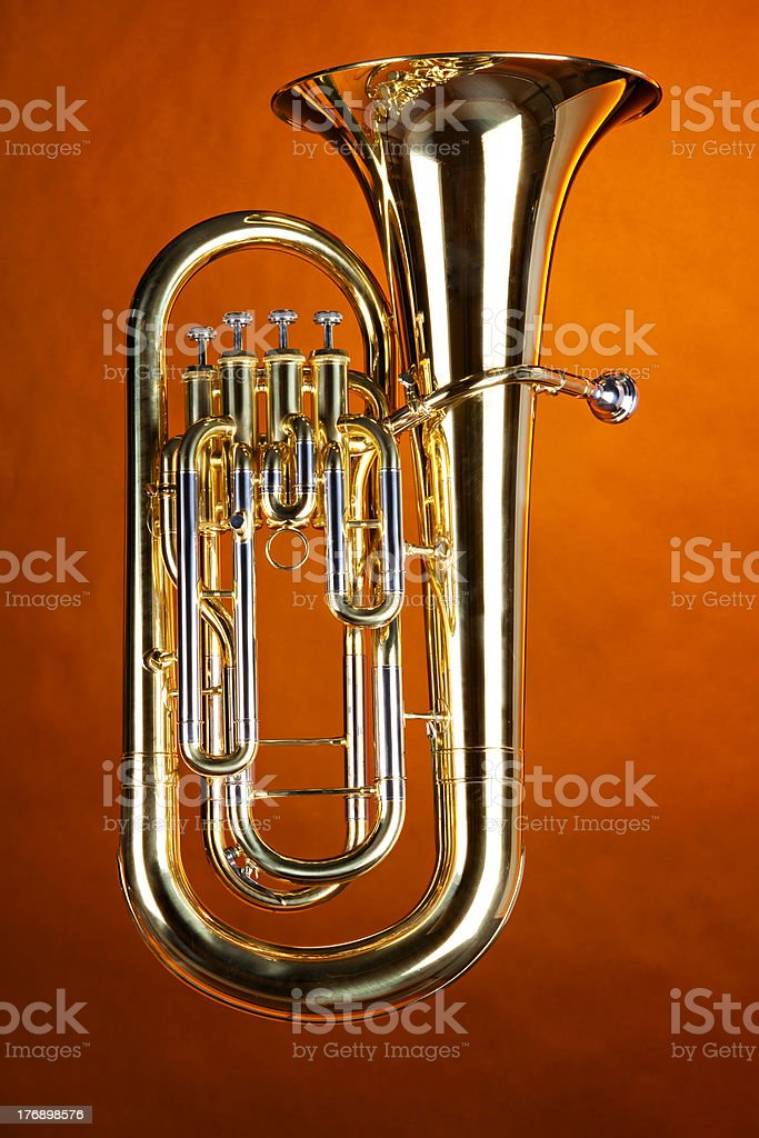 Complete Tuba Euphonium Isolated stock photo