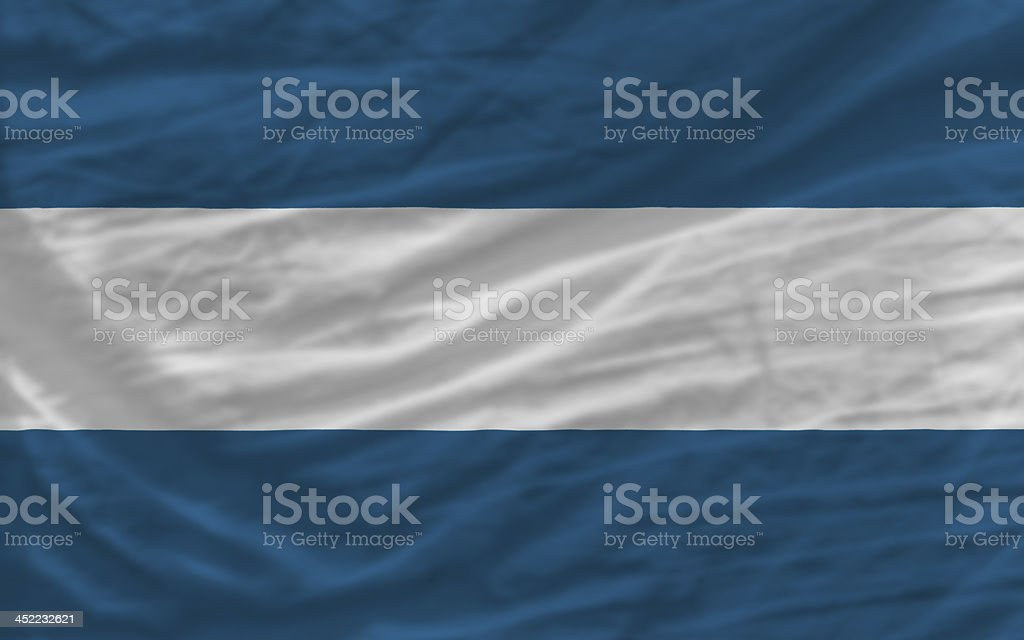 complete waved national flag of el salvador for background stock photo