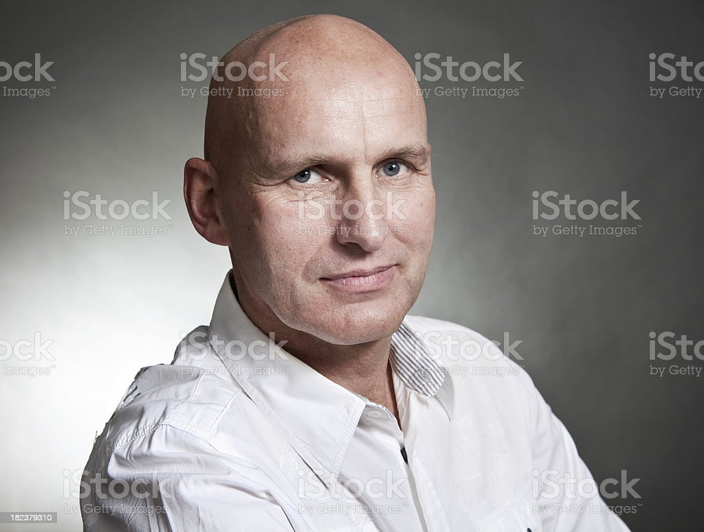 Completely Bald royalty-free stock photo