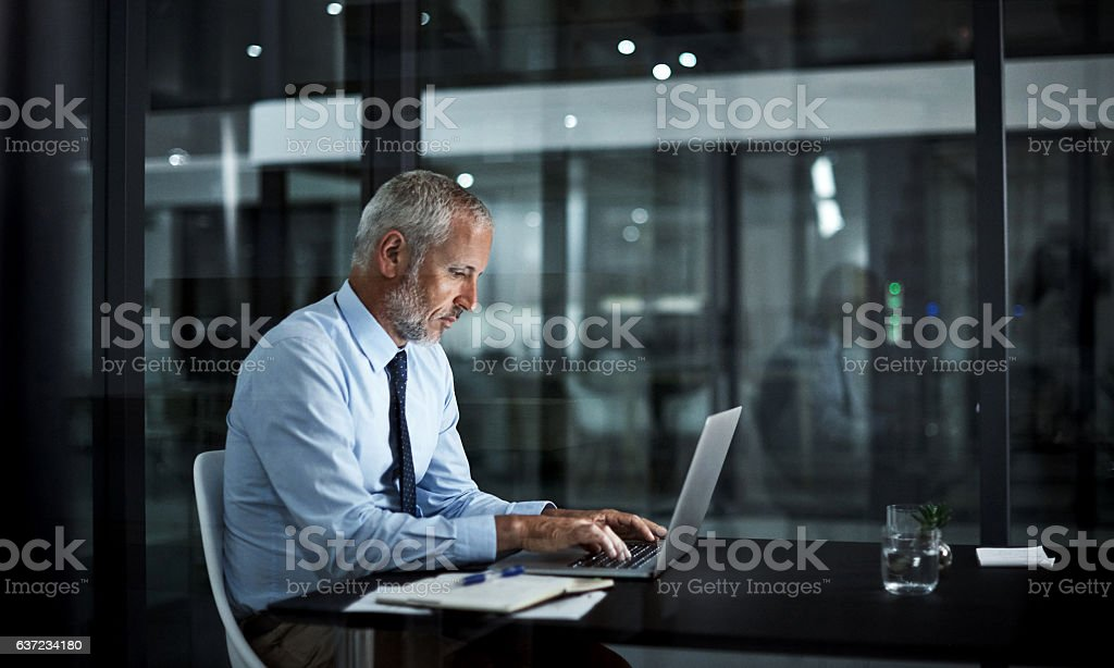 Completely dedicated to corporate success stock photo