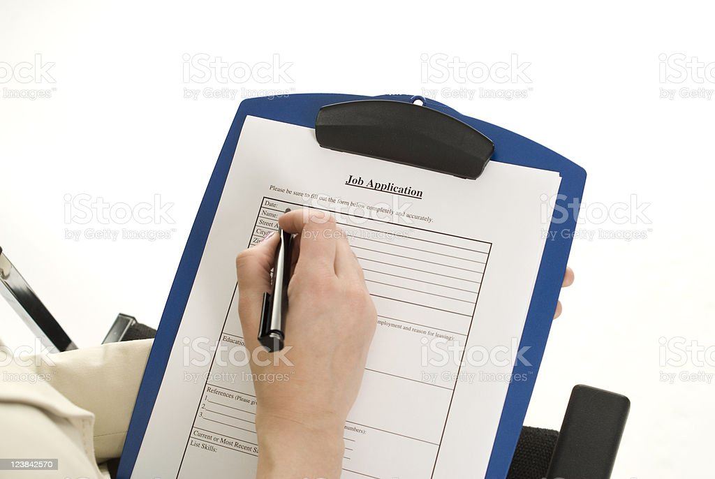 Completing Job Application royalty-free stock photo
