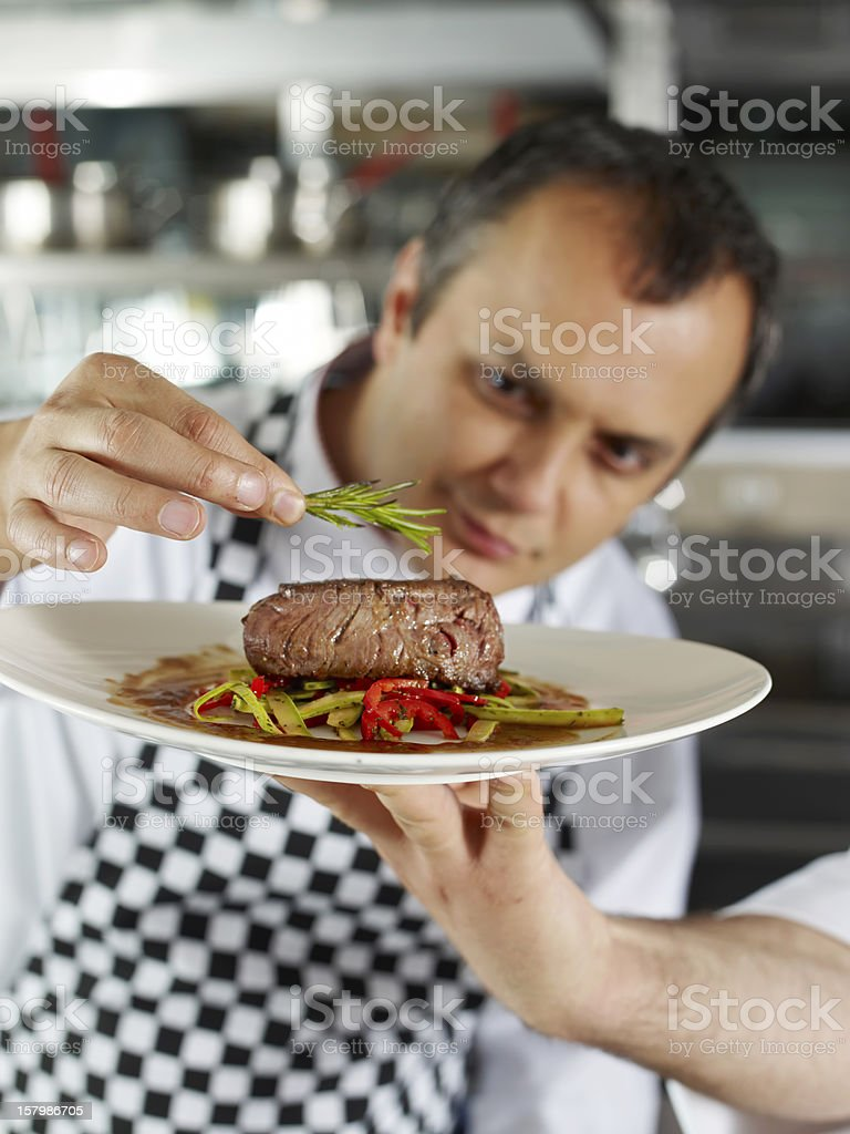 completing Meat Dish stock photo
