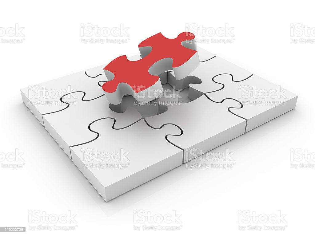 Completing the Puzzle. royalty-free stock photo