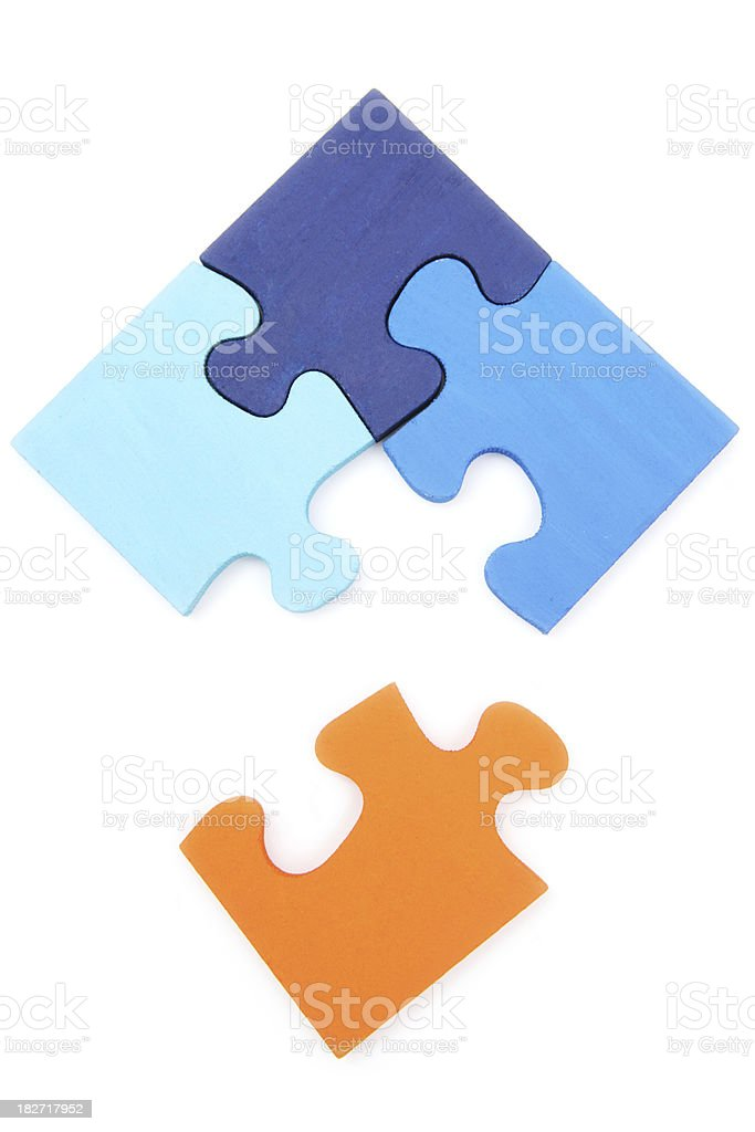 Completing the Puzzle royalty-free stock photo