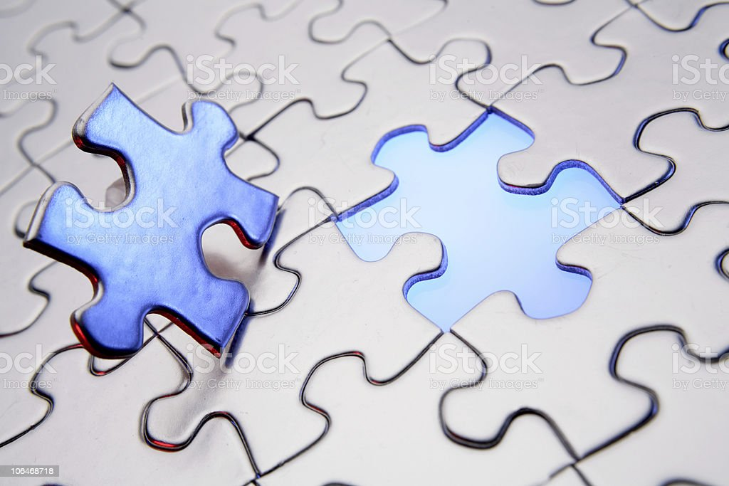 Completion of puzzle royalty-free stock photo
