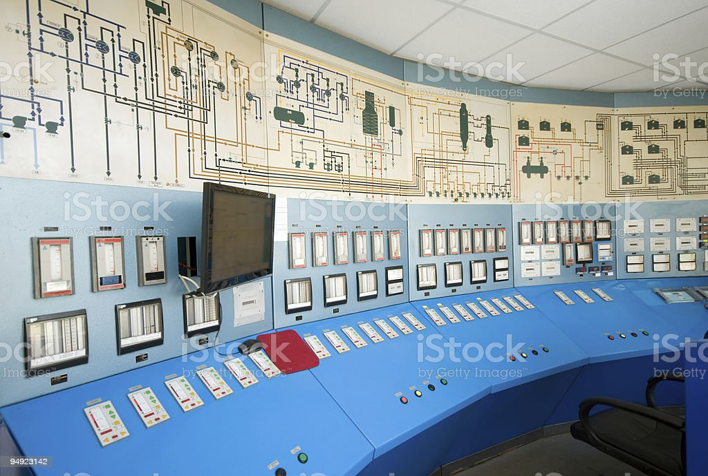 Complex and empty control room royalty-free stock photo