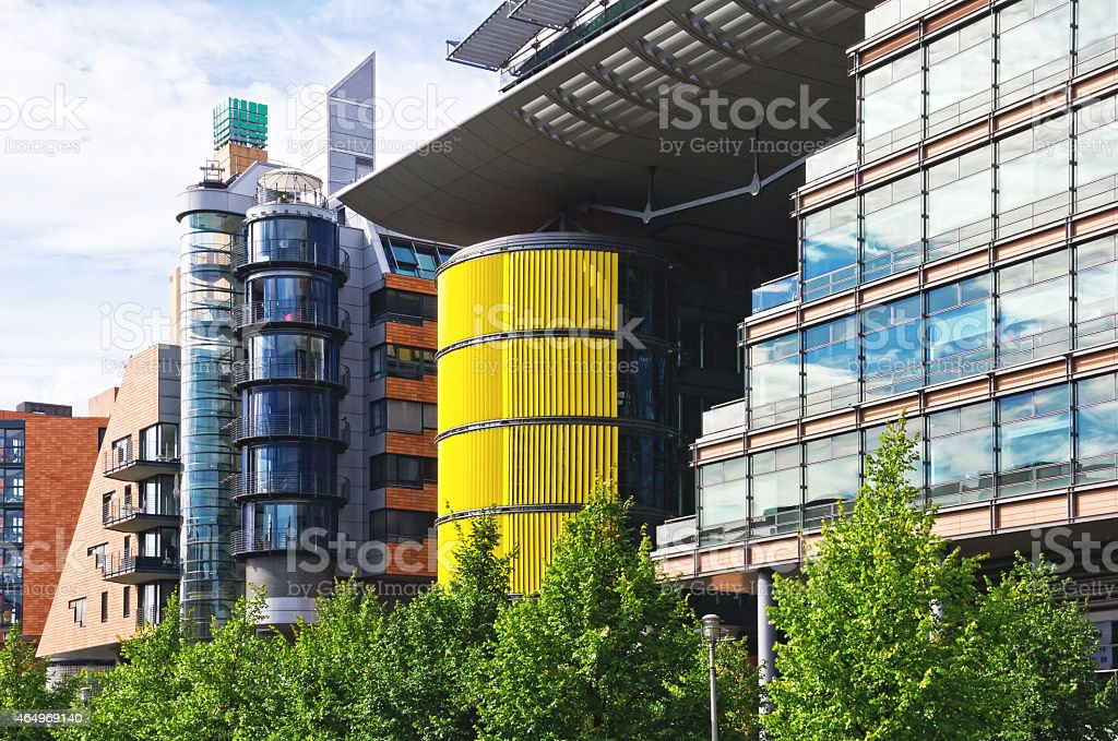 Complex of modern architecture stock photo