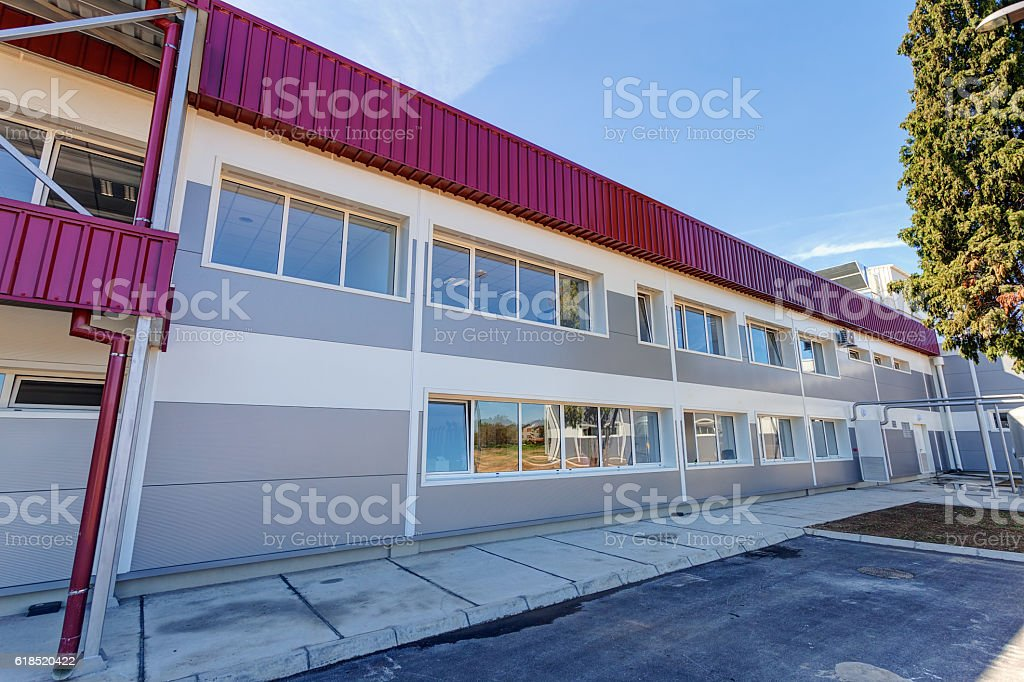 Complex of modern building in exterior stock photo