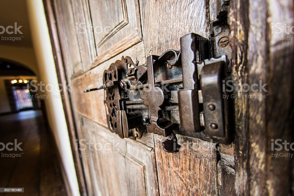 Complex old lock stock photo