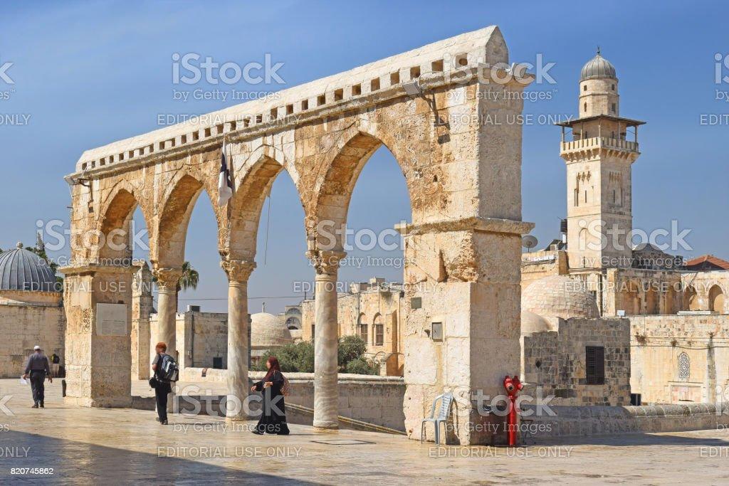 complex on the temple mount, jerusalem, israel stock photo