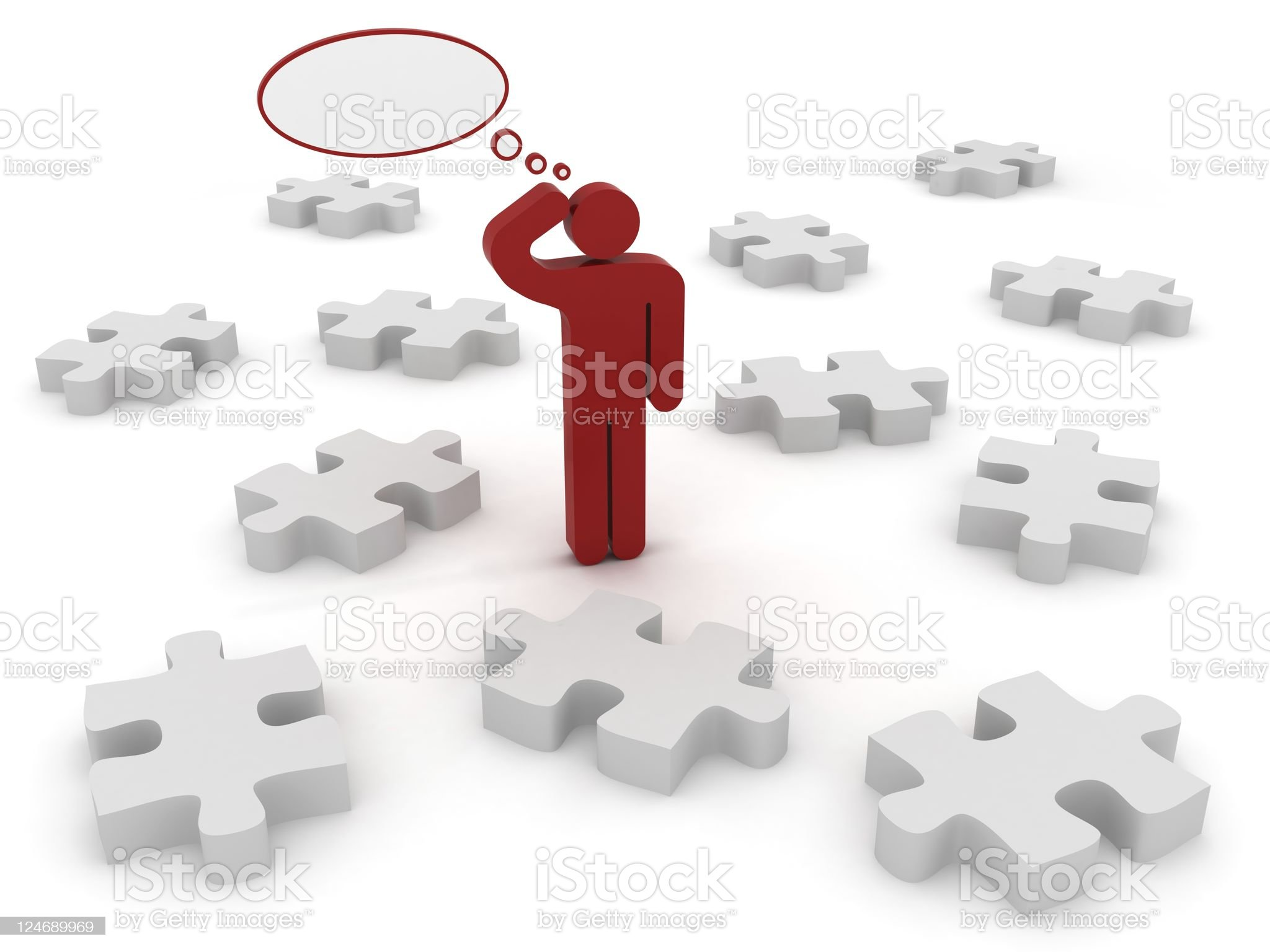 Complex Problem royalty-free stock photo