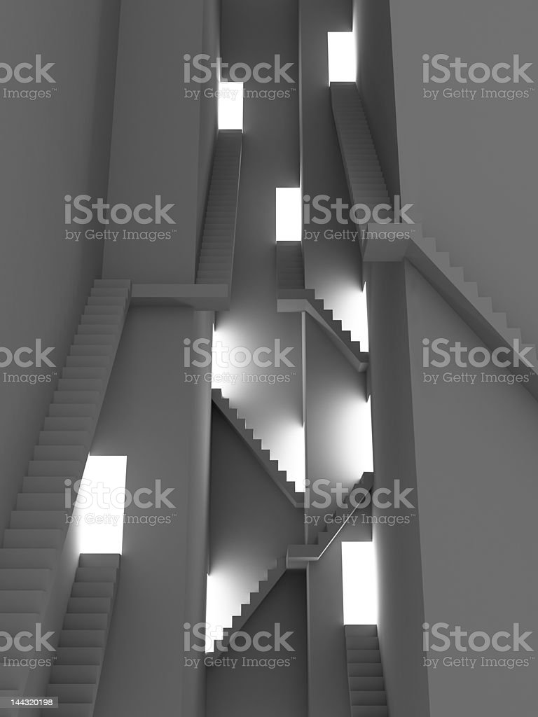 Complex stairs royalty-free stock photo