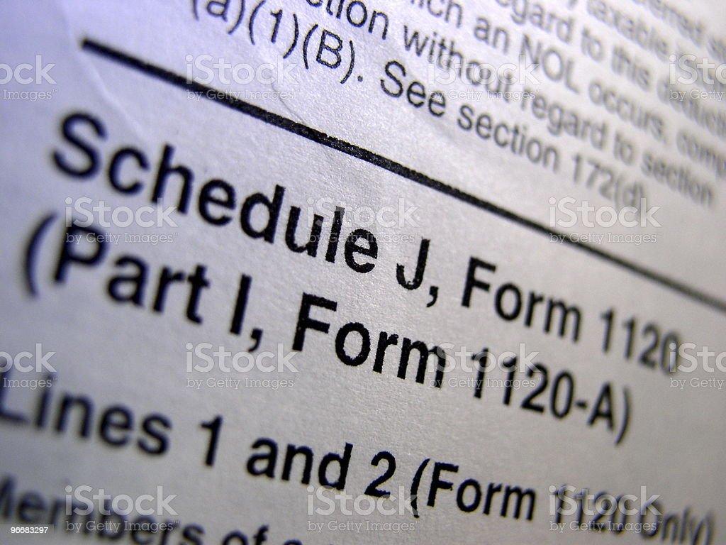 Complex Tax Form stock photo