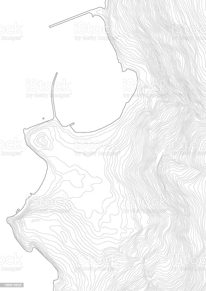 complex terrain topography stock photo