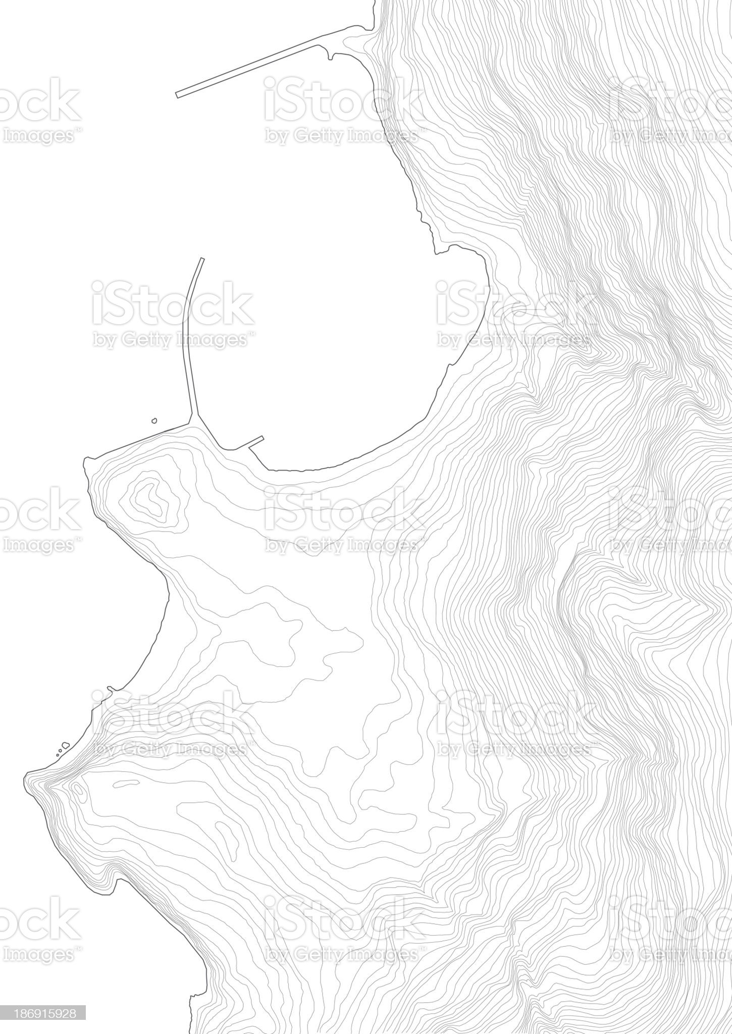 complex terrain topography royalty-free stock photo