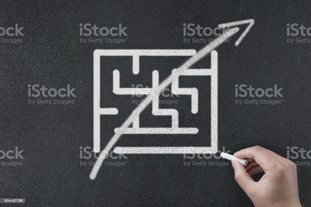 complex to simple stock photo