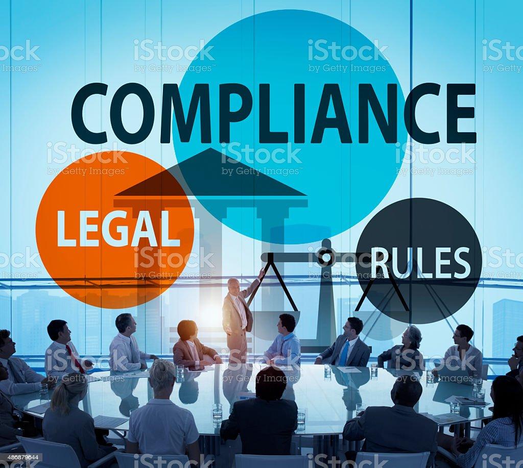 Compliance Legal Rule Compliancy Conformity Concept stock photo