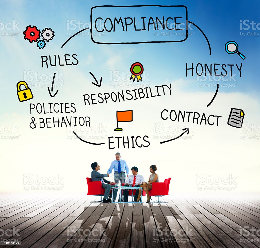 Compliance Rules Responsibility Legal Agreement Concept stock photo