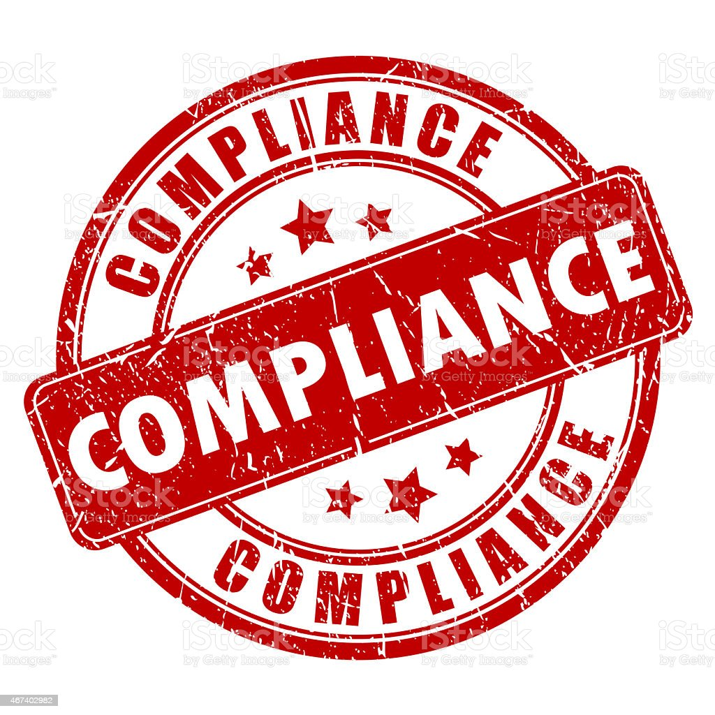 Compliance stamp stock photo