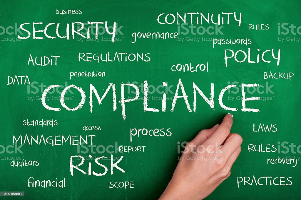 Compliance Word Cloud Concept stock photo