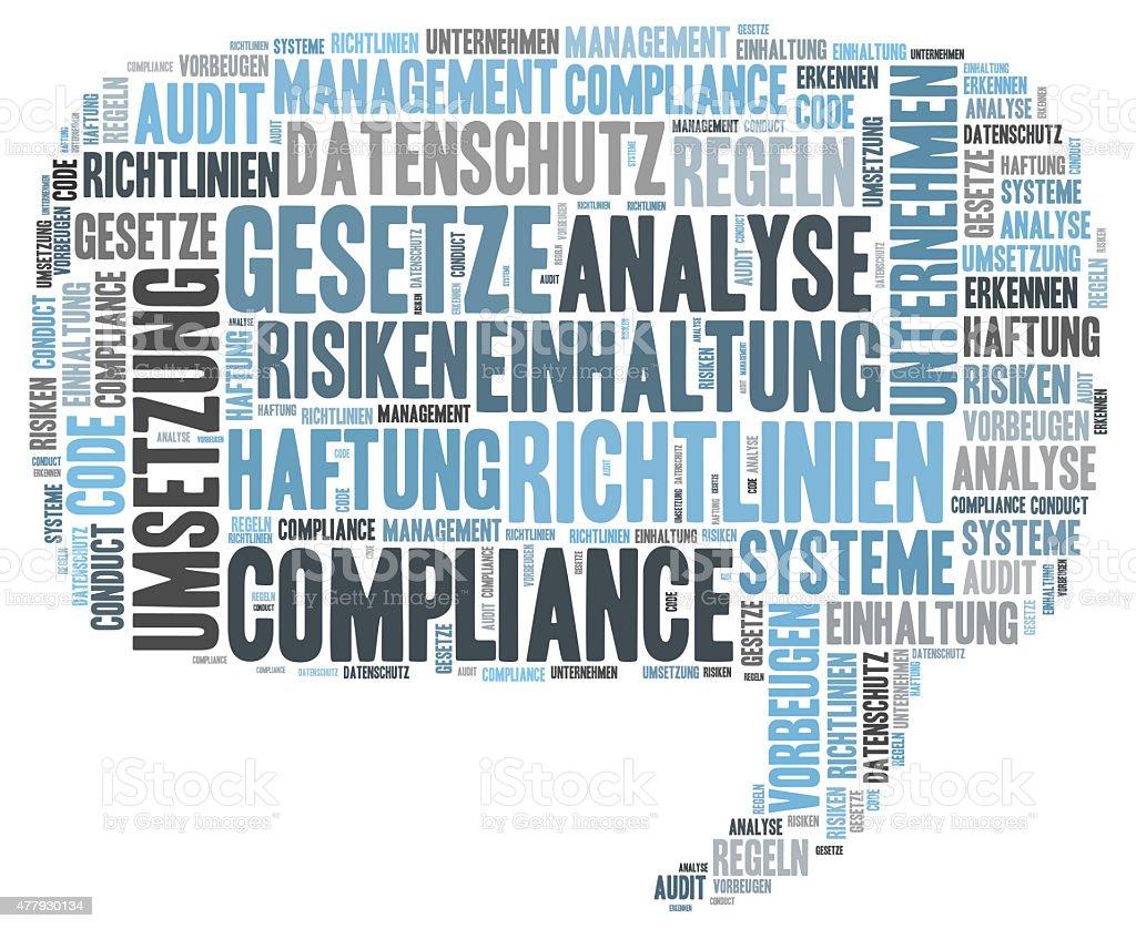 Compliance word cloud stock photo