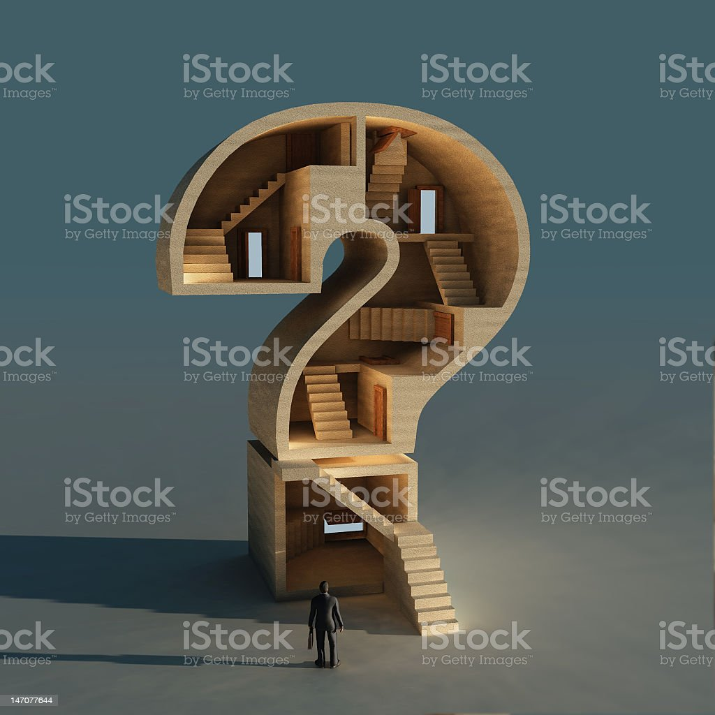 complicated business question stock photo