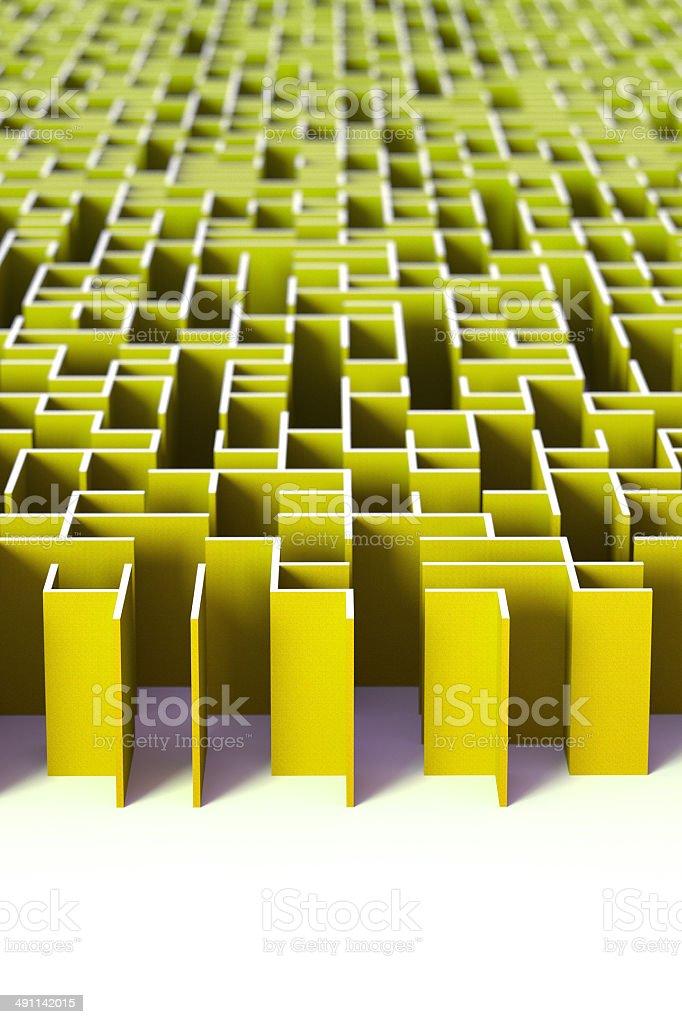 Complicated green maze stock photo