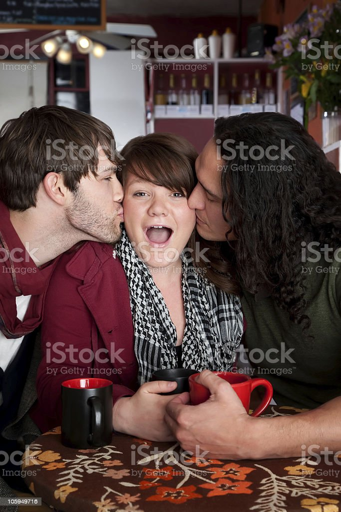 Complicated love triangle royalty-free stock photo