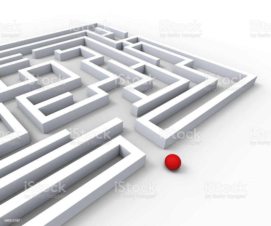 Complicated Maze Shows Complexity And Challenges royalty-free stock photo