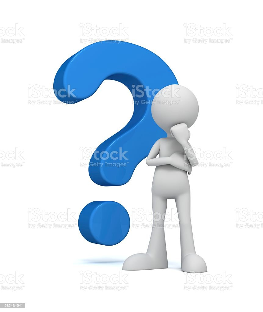 complicated question stock photo