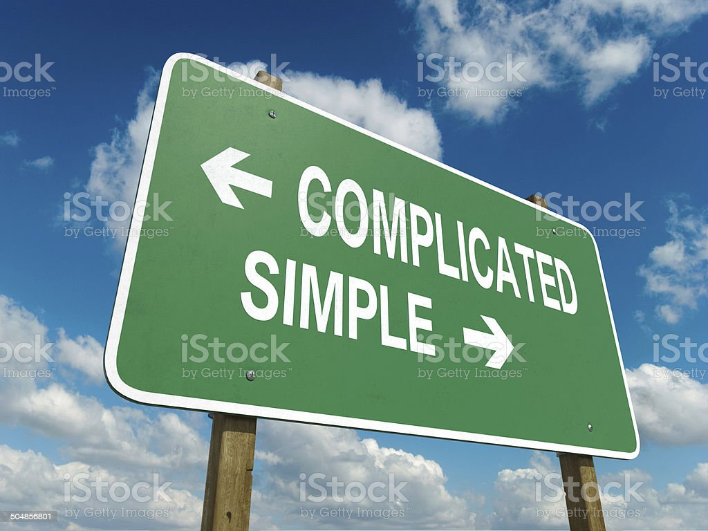 complicated simple stock photo