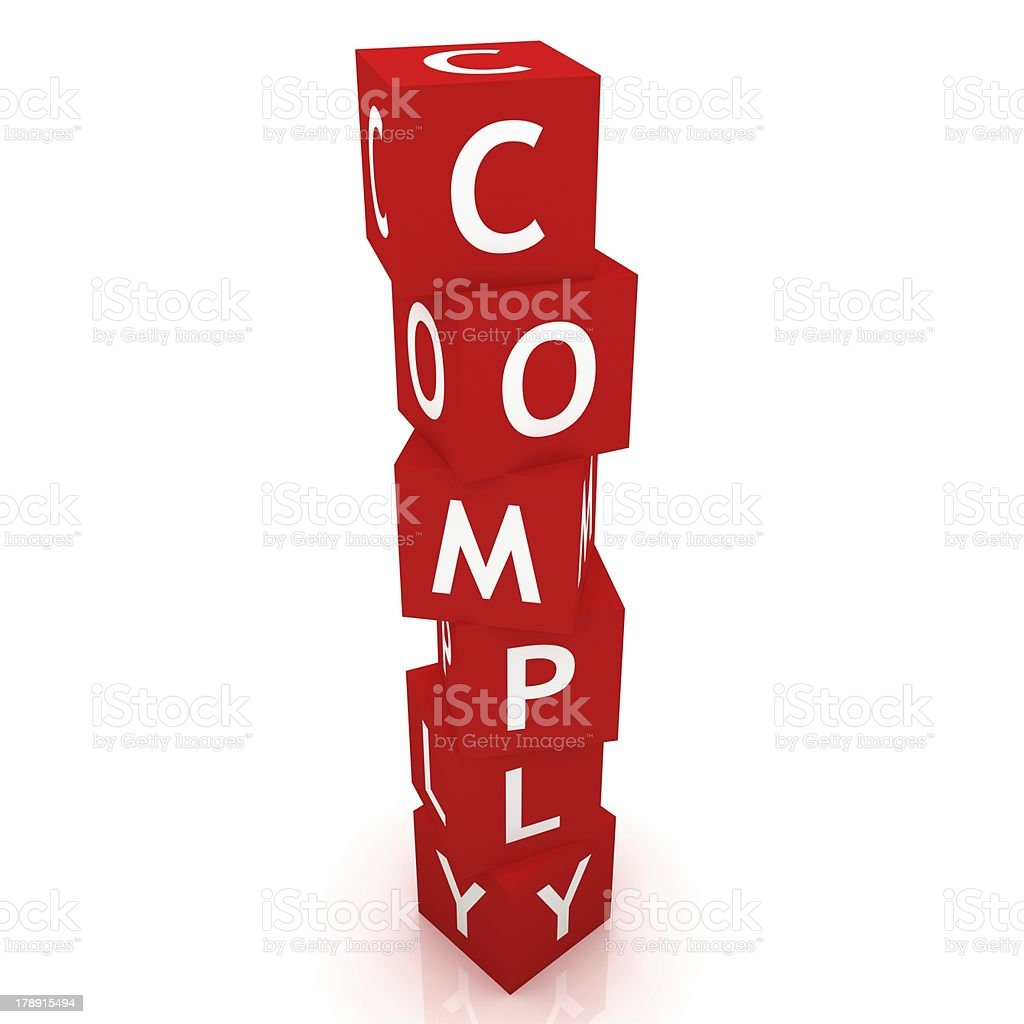 Comply Cubes royalty-free stock photo