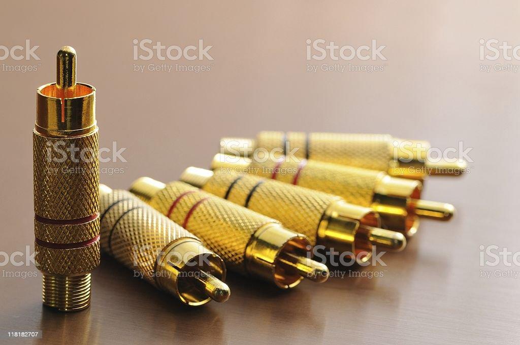 RCA component stock photo