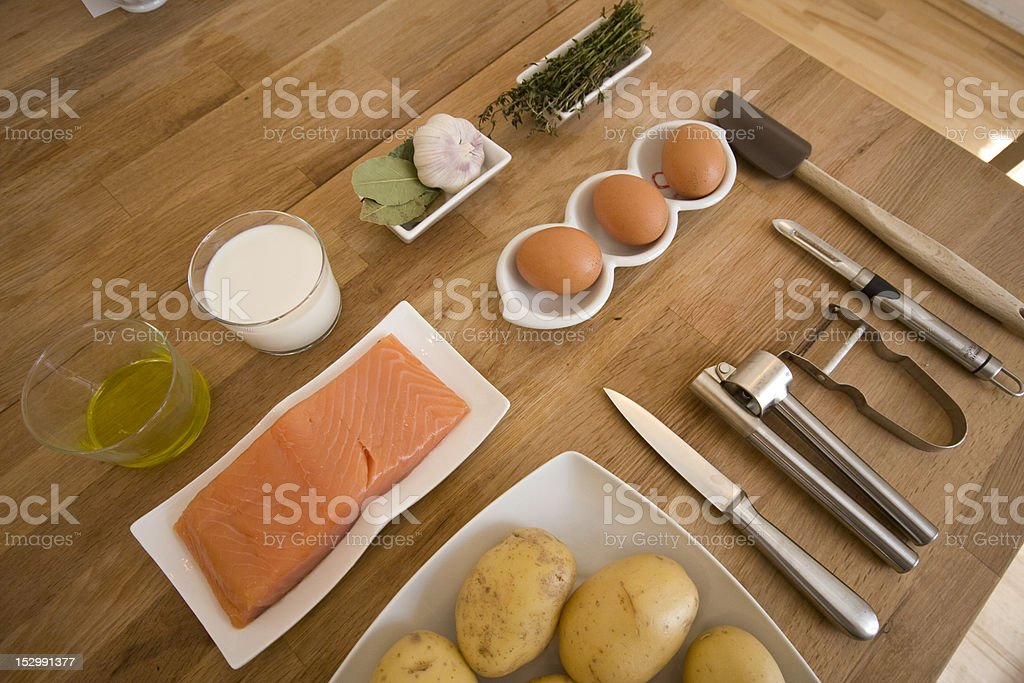 Components for cooking stock photo