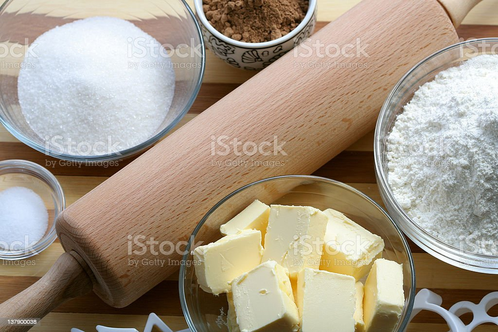 Components of cookies stock photo