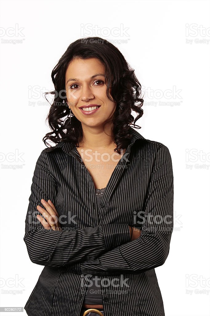 Composed Business Woman Smiling royalty-free stock photo