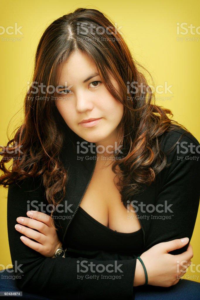 Composed female stock photo