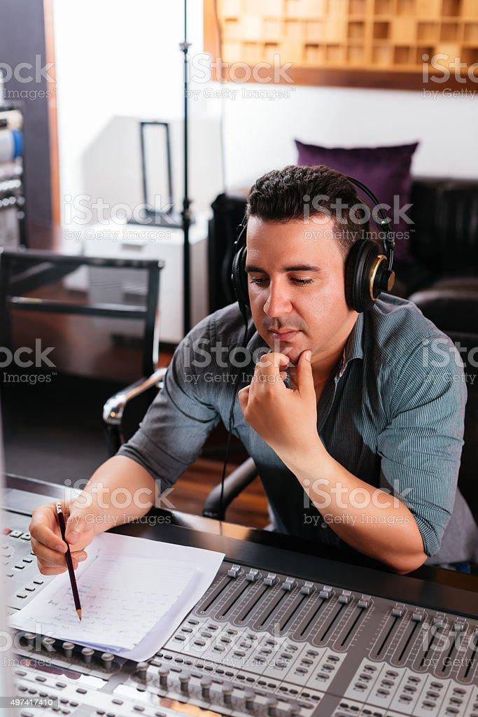 Composing music stock photo