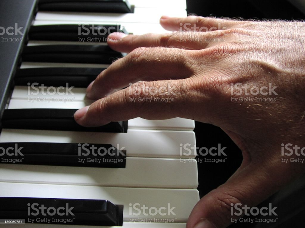 Composing original music royalty-free stock photo