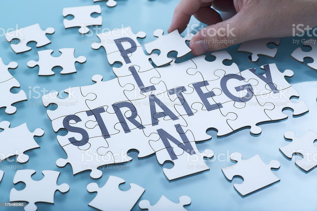 Composite image of a strategy puzzle royalty-free stock photo